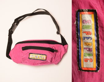 vintage 80s fanny pack hot pink Superpac bum bag nylon pink hip bag surf skate 1980 style fashion fad