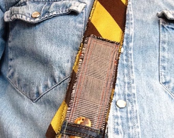 Necktie Hipster Vintage Upcycled Repurposed