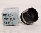 Mikar S 4.5 55mm M42 Vintage lens Enlager Boxed Poland PZO Warszawa
