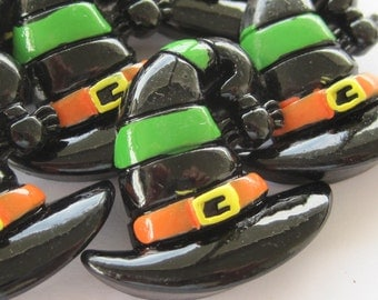 Halloween Witches Hat Cabochons Embellishments Lot of 2