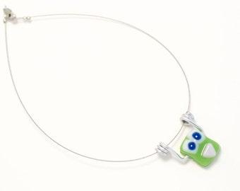 Collier coloré de verre fusion pour enfant