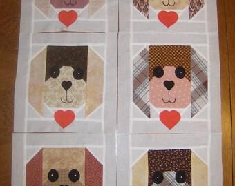 Puppy Dog Quilt Blocks