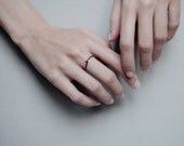 Minimalist ring // Twisted silver Ring //  minimal ring //  delicate silver ring // SM008