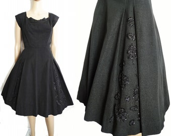 Vintage//1950s Dress // 50s Dress //Beaded//Emmy Fisch// Party Dress //New Look //Femme Fatale//