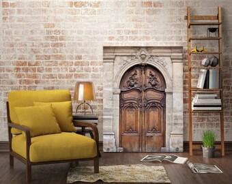 Paris door photography, Paris gallery art print, Door in Paris print, large Paris print - A Door in Paris