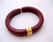 Vintage Avon Lucite or Celluloid Clamper Bangle