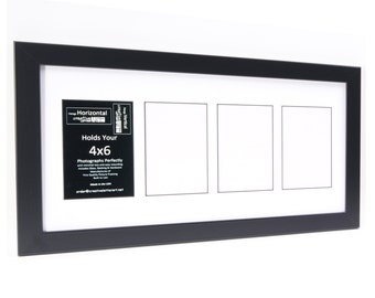Multiple Opening Black Picture Frame Collage up to 14 Openings to Hold 4 by 6 inch Photographs -Great for Grandkids, School Year and Wedding