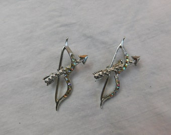 has Cupid Lost His Bow and Arrows? Here is a Pair of 1950's Vintage Costume Jewelry Pins or Brooches
