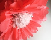 Tissue Flower, Tissue Paper Flowers, Flower Backdrop, Tea Party Decor, Nursery Decor, Whimsical Birthday Party Decor, Photography Backdrop