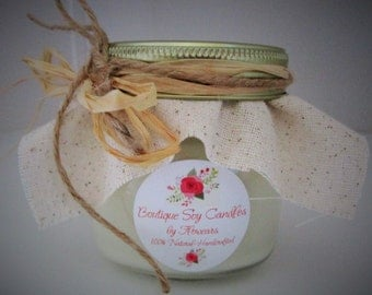 Soy candle wedding favor, Rustic Wedding favor candle, Country wedding favor, Bridesmaids gift, Bridal shower gift candle