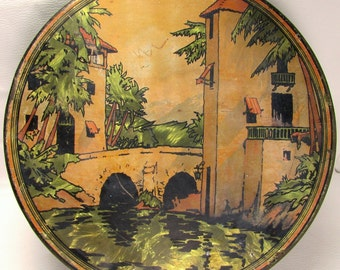 Vintage Deco: 1930's Tindeco Sunlite Cookie Tin
