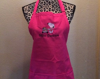 Chef Snoopy Womens Kitchen Apron Personalized Free