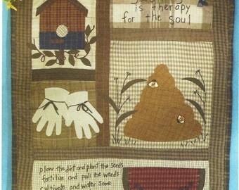 Cheryl Haynes Summer Quilted Wall Hanging or Quilt Block 2nd in the Series OOP McCalls Crafts Pattern M5126 UnCut Appliqued Wall Hanging