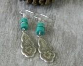 Turquoise earrings southwest earrings bohemian earrings southwestern style cowgirl unique dangle earrings bohemian jewelry western boho