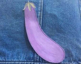 Eggplant iron on patch