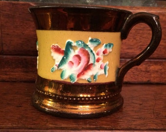 Copper Luster Ware Mug 1850, Unusual