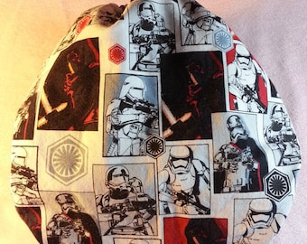 SassyCloth one size pocket diaper with Star Wars dark side cotton print. Made to order.
