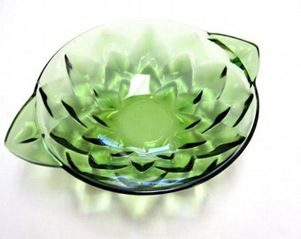 Small Green Glass Bowl Serving Dish
