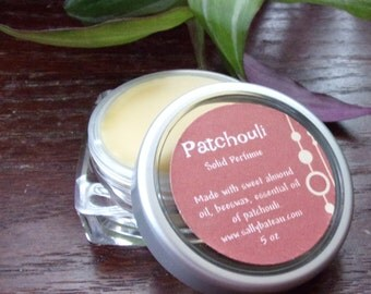 PATCHOULI solid perfume- handmade solid perfume made with essential oil, beeswax, and sweet almond oil