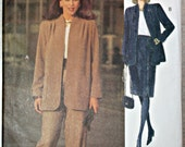 VOGUE Woman Sewing Pattern 8729 Misses' Petite Jacket, Skirt & Pants - Size 20 - 22 - 24 - 1993 Vintage - Uncut - estate sale find
