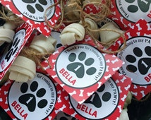 Personalized Puppy Dog Favor Tags Printable or Printed with FREE SHIPPING - Any Wording - Bow Wow Collection