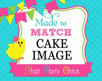 Made to Match Personalized Cake Image to Match Any Design