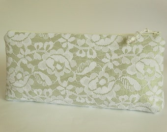 Wedding Clutch Gift for Mother of the Groom, Spring Green Purse, Mothers Garden Wedding Gift Idea