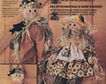 Doll craft Friendly Scarecrows by Faye WineMcCall's Crafts Pattern #6665 Friendly Scarecrows by Faye Wine - Uncut excellent condition