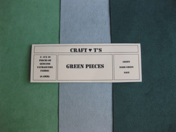 Ultrasuede Green Package 3 - 8 x 10 Pieces