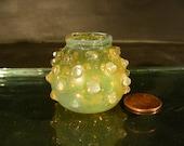 Tiny Hand Blown Hop-Nail Dandelion Vases