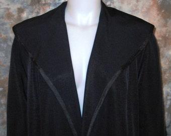 50s Clutch Coat Black Clutch Coat Ribbed Clutch Coat Shawl Collar Coat 1950s Black Coat Black Dress Coat Black Evening Coat Flared Coat