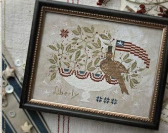 Liberty for All cross stitch patterns by With Thy Needle & Thread by thecottageneedle.com Sampler 4th of July Independence
