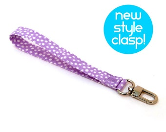 Key Fob - Lavender Wristlet Strap - Girls Purple Purse Strap - Key Wrist Lanyard - Stocking Stuffer - Key Chain Wrist Strap - Ready to Ship