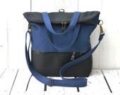 Convertible backpack Unisex bag, Canvas tote crossbody bag Weekender bag School bag, unique gift for men women, birthday present for husband