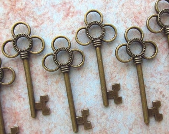 Morlais Antique Bronze Skeleton Key  - Set of 10