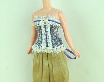 Purple Pearls Blythe Art Line Corset for Blythe Doll