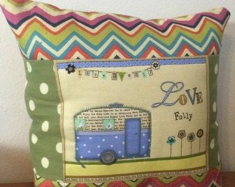 Retri Camper Pillow Cover - Inspirational Words Decorative Pillow