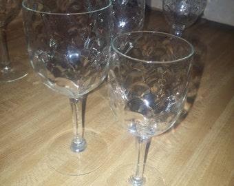 Crystal Stemware Set of Eight....4 Aperitif...4 Wine Glasses
