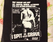 HORROR EXPLOITATION PATCH i spit on your grave hardline feminist unwanted castration