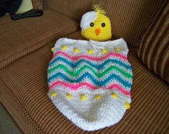 Newborn Easter Chick Hat and Cocoon