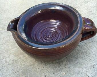 Ceramic shaving scuttle