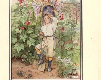 THE CAMEL'S HUMP  Antique 1908 Original Book Plate Rudyard Kipling  Poem M. Spooner Art Print