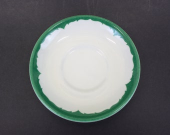 Vintage Shenango Restaurant China Saucer w/Forest Green Swirl Pattern (E4242)