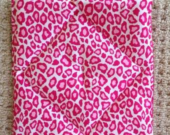 American Girl pets:  Pink Cheetah Pooch Pad mattress for dog house