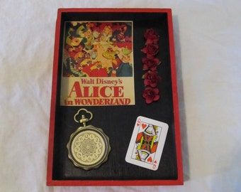Alice In Wonderland Mixed Media Wall Art Decor Shadow Box