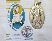 Official Vatican Jubilee Year of Mercy Medal, Extra Large 1 3/4 Inches, Merciful Like the Father, Pope Francis, Made in Italy