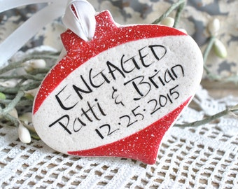 Engaged Personalized Salt Dough Ornament