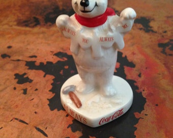 "Vintage 1996 Coca Cola Polar Bear Figurine ""Always You Always Me"""