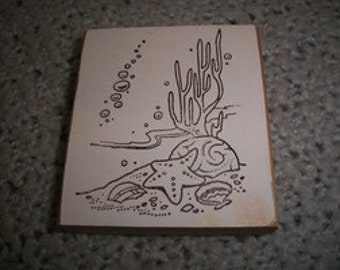 Sea Shells Under the Sea Rubber Stamp