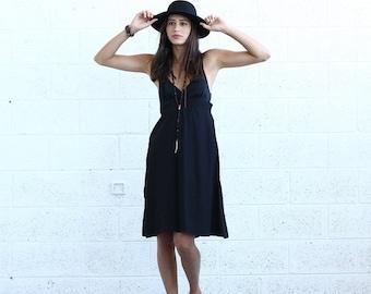 Final Summer Sale Sarafan Dress, Black.